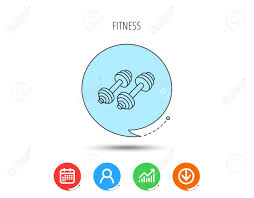 Bodybuilding Chart Free Download Dumbbell Icon Fitness Sport Or Gym Sign Bodybuilding Workout