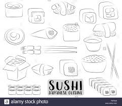 Sushi And Rolls Set Japanese Cuisine Concept Asian Restaurant Menu