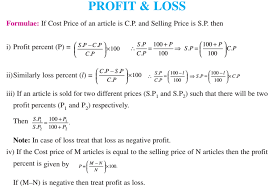 Profit Loss Formula Profit And Loss Formulas Solved Problems With Explanations