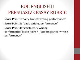 Persuasive Essay Rubric 2 Robert E Lee High School Writing Plan Ppt Download
