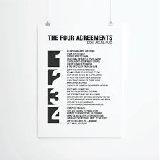 The Four Agreements Quotes Enchanting Inspirational Quotes Quote Prints Quote Posters Typography Etsy