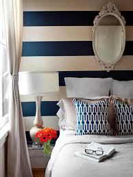 Bedroom:Modern Striped Accents Wall Bedroom Ideas Striped Accents Wall  Bedroom For Teenagers