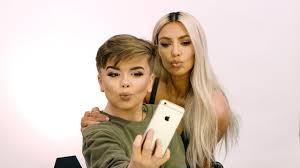 kim kardashian west stops by reuben s makeup tutorial