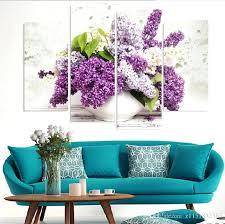 lavender wall art best 4 panel modern lavender flowers canvas painting on canvas wall art modular lavender wall art