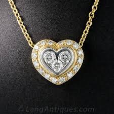 bulgari diamond heart pendant previous to enlarge photo