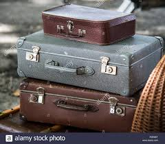 Old Suitcases Old Suitcases Stacked Up Vintage Stock Photo Royalty Free Image