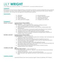 Tell Me About Your Previous Work Experience In Customer Service Simple Customer Service Representative Resume Example Livecareer