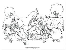 Farm Animal Coloring Pages Pictures Of Farm Animals To Color Animals