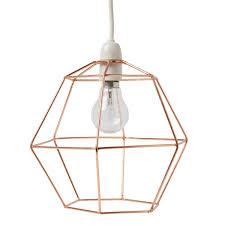 Copper Wire Hexagon Lampshade