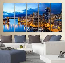 large wall art canvas print the city of vancouver in canada regarding prepare 19  on wall art canvas prints canada with large wall canvas hertscreation