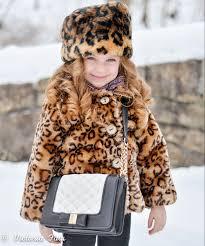 vivienne for lilax kids leopard print faux fur coat