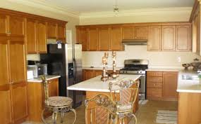 Wooden Kitchen Furniture Wonderful Wooden Kitchen Cabinet Beige Stone Tiled