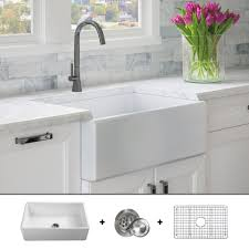 Fsw1001 Luxury 30 Inch Pure Fireclay Modern Farmhouse Sink In White