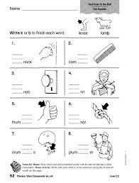 Phonics: Silent Consonants: kn, mb Worksheet for 1st - 2nd Grade ...