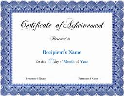 Certificate Of Appreciation Template Word Certificate Recognition