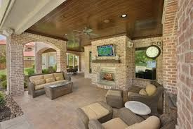 stamped concrete patio with fireplace. Stamped Concrete Patio Traditional With Brick Fireplace Beige Outdoor Cushions