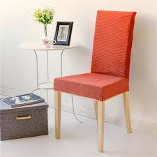 orange color granule elastic chair cover for computer dining room kitchen colorful printed chair covers spandex seat cover in chair cover from home