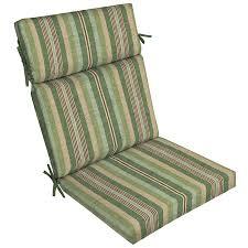allen roth 1 piece green stripe high back patio chair cushion