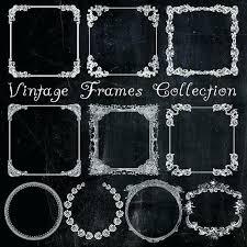 chalkboard picture frame chalk board vintage frames digital set of white printable bonus paper 94 chalkboard picture frame