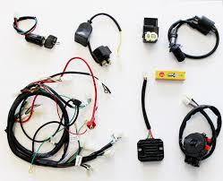 gy6 150cc wire harness wiring assembly harness atv quad wire loom key solenoid