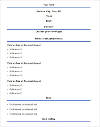 Examples Of A Basic Resume Examples Of Resumes