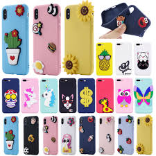 details about fashion diy 3d animals soft silicone phone case cover for iphone samsung galaxy