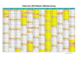 jahrskalender 2015 kalender 2015 baden württemberg kalendervip