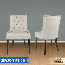 tufted back dining chair. Retro Tufted Back Nailhead Dining Chair For Classy Room Idea