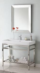 40 inch single sink console bathroom vanity with choice of metal intended for metal bathroom vanity