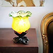 uplight accent lamp green yellow frosted glass 6 inch tulip accent lamp glass uplight accent lamp uplight accent lamp