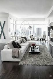 modern living room black and white. Black And White Living Room Idea 27 Modern 2
