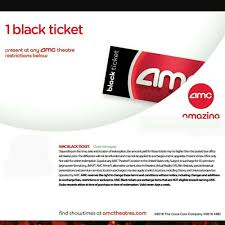 details about amc theater black ticket super fast e delivery 50 states no expiration