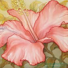 picture large flower sudanese rose painter lapteva viktoriya