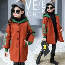 2019 <b>Autumn Winter Girl Woolen</b> Coat Fashion Design Long Coat ...