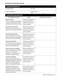 What Is Performance Evaluation Form Fascinating Performance Evaluation Template Word Shirayuki