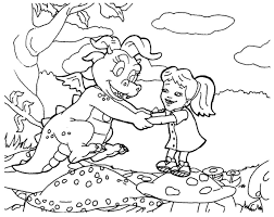 Small Picture Cassie Dragon Tales Coloring Pages Gekimoe 39443