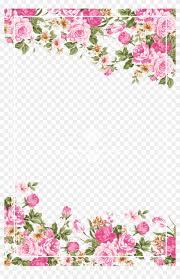 Flower Border Designs For Paper Wedding Invitation Paper Flower Rose Pink Pink Rose Border Free