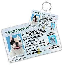 Pet License Etsy Wallet And Washington Id Card Custom Driver Tags