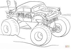 Avenger Monster Truck Kleurplaat Gratis Kleurplaten Printen Monster