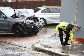 Five people are arrested after car mows down seven pedestrians ...