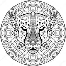 Cheetah Super Coloring Patronen Schilderen Coloring Pages With
