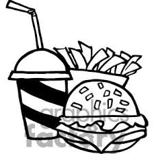 fast food clipart black and white. Interesting White Clipart Food With Fast Food Clipart Black And White Panda