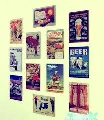 tin wall decor hot nostalgic beer car poster vintage metal tin sign decor home bar