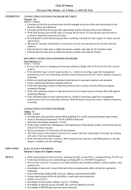 Consulting Systems Engineer Resume Samples Velvet Jobs
