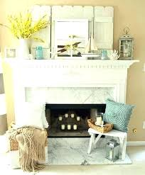 fireplace hearth decor mantel ideas with mirror stone mante