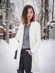choies white coat in winter white