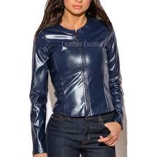 croc leather jacket faux leather jacket