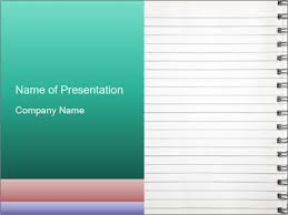 Notebook Templates Write Memo In Notebook Powerpoint Template Infographics Slides