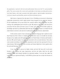 personal statement sample from assignmentsupport com essay writing se   2 the opportunity to network real estate