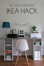 Small office desk ikea Simple 25 Diy Home Office Hacks Ideas And Tutorials For Better Workspace Ikea Hacks Ikea Knockoffs Diy Desk Ikea Desk Ikea Pinterest 25 Diy Home Office Hacks Ideas And Tutorials For Better Workspace